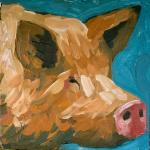 Little-Piggy-3-surreal-animal-art-painting-Will-Eskridge-web